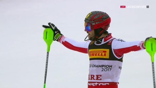 WK Are | Marcel Hirscher zorgt voor Oostenrijkse 1-2-3 op slalom