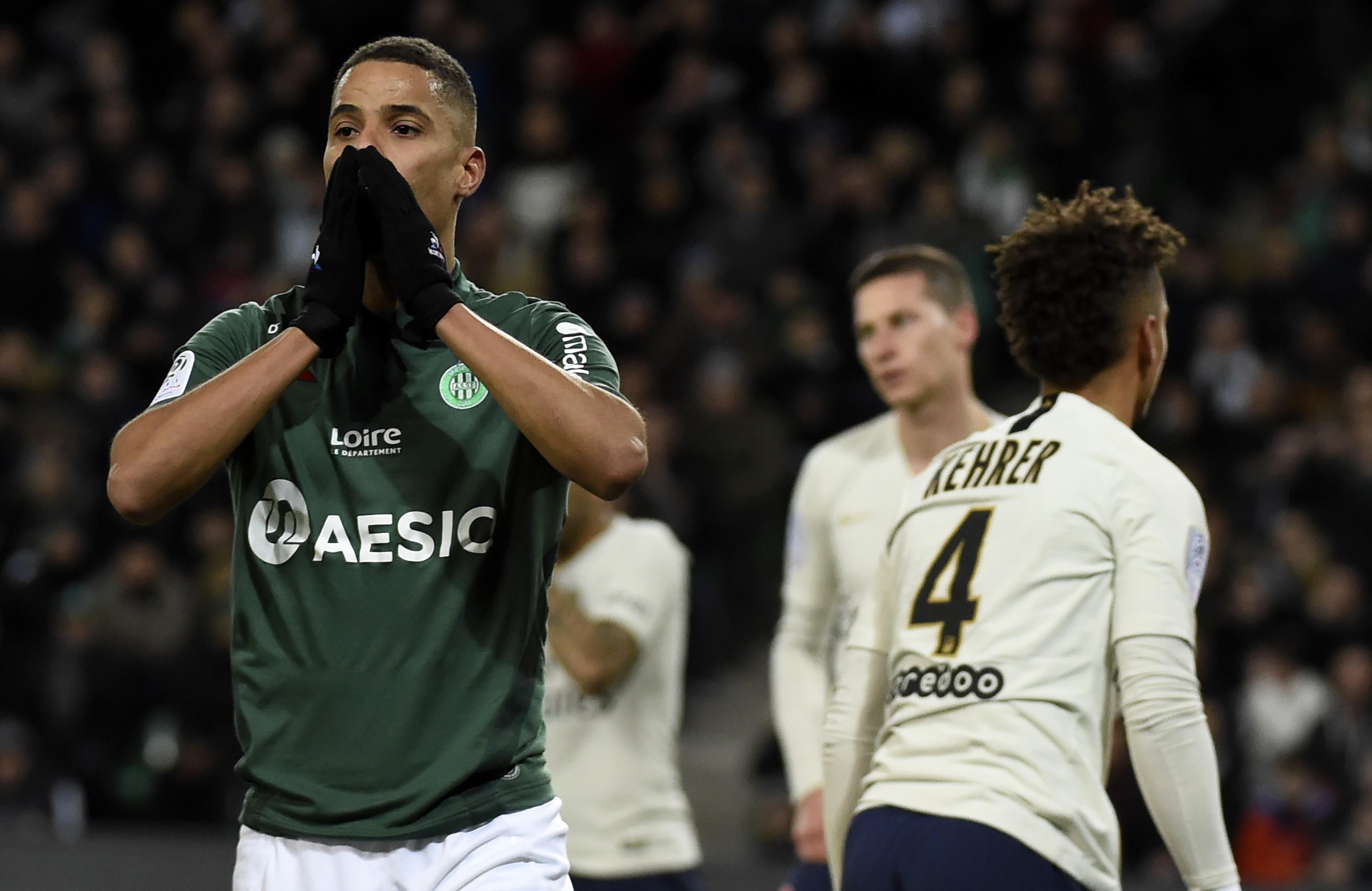 Kevin Monnet-Paquet vert de rage lors de Saint-Etienne-PSG / Ligue 1