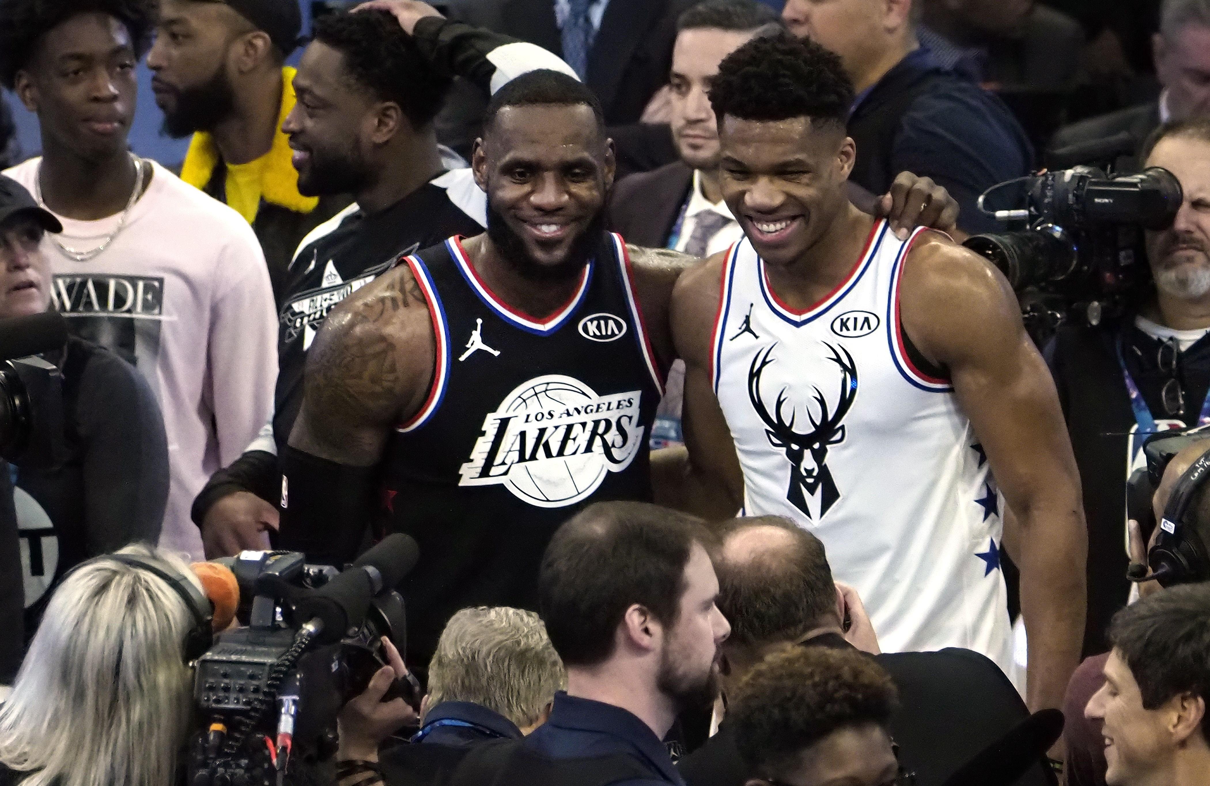 LeBron James ve Giannis Antetokounmpo