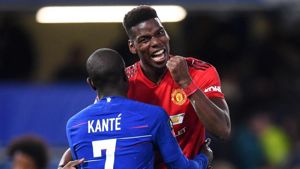 4423b683 FA Cup - Manchester United maîtrise Chelsea (0-2) et file en quarts de  finale, Pogba buteur - The Emirates FA Cup 2018-2019 - Football - Eurosport