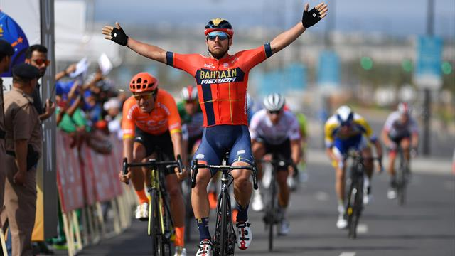 Colbrelli salutes Van Avermaet after Stage 4 victory