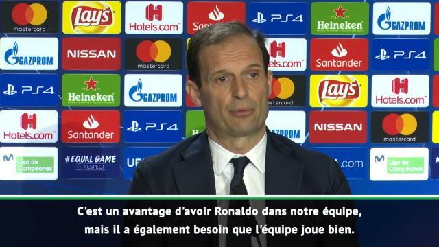 """Allegri : """"C'est un avantage d'avoir Ronaldo dans notre équipe"""""""