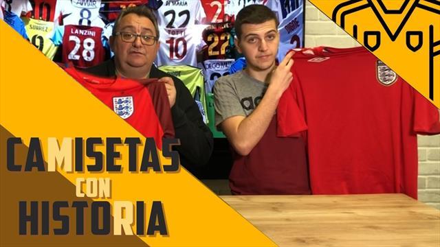 Camisetas con historia: El color de la suerte para los inventores del fútbol - La Selección Inglesa