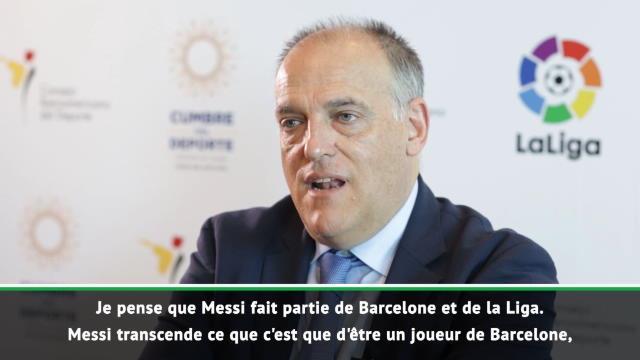 """La Liga - Tebas : """"Messi est une icône de notre championnat"""""""