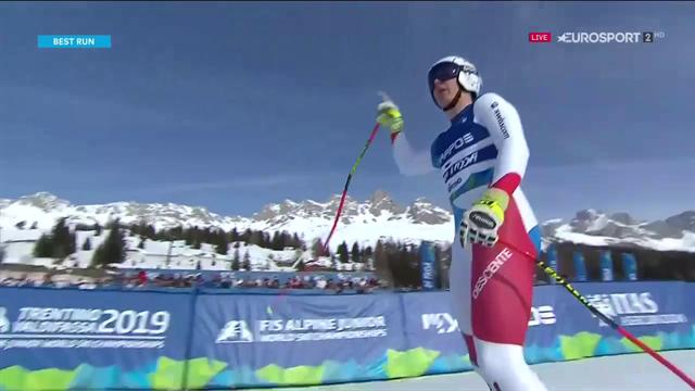 Lars Roesti oro nella discesa ai Mondiali Junior Val di Fassa 2019