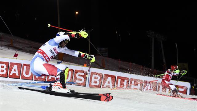 Alpineskien | Zenhausern wint parallelslalom, Hirscher wint wereldbeker in Stockholm