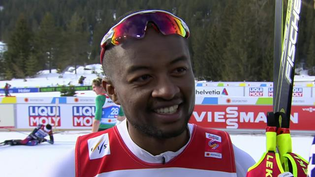 Madagascan cross-country skiier Andreas Razafimahatratra discusses his qualifing attempt