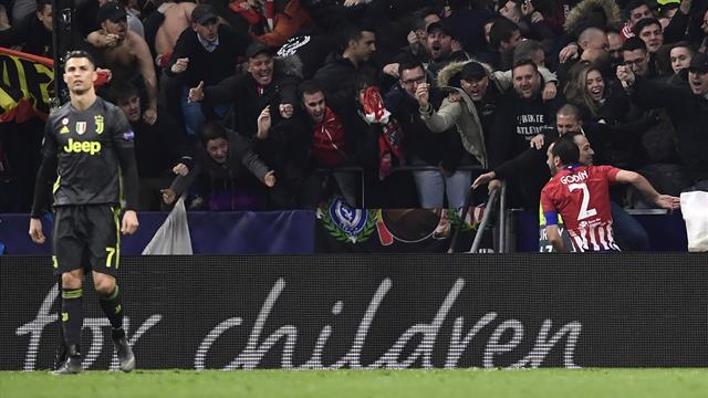 Gimenez-Godin, la Juventus affonda a Madrid: 2-0 Atletico al primo round degli ottavi