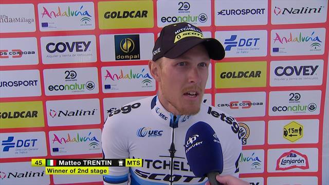"""Trentin: """"L'ultimo chilometro è stato lunghissimo... Forse era 1,5 km!"""""""