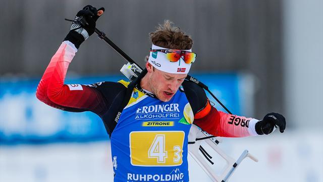 Tarjei Boe secures biathlon victory