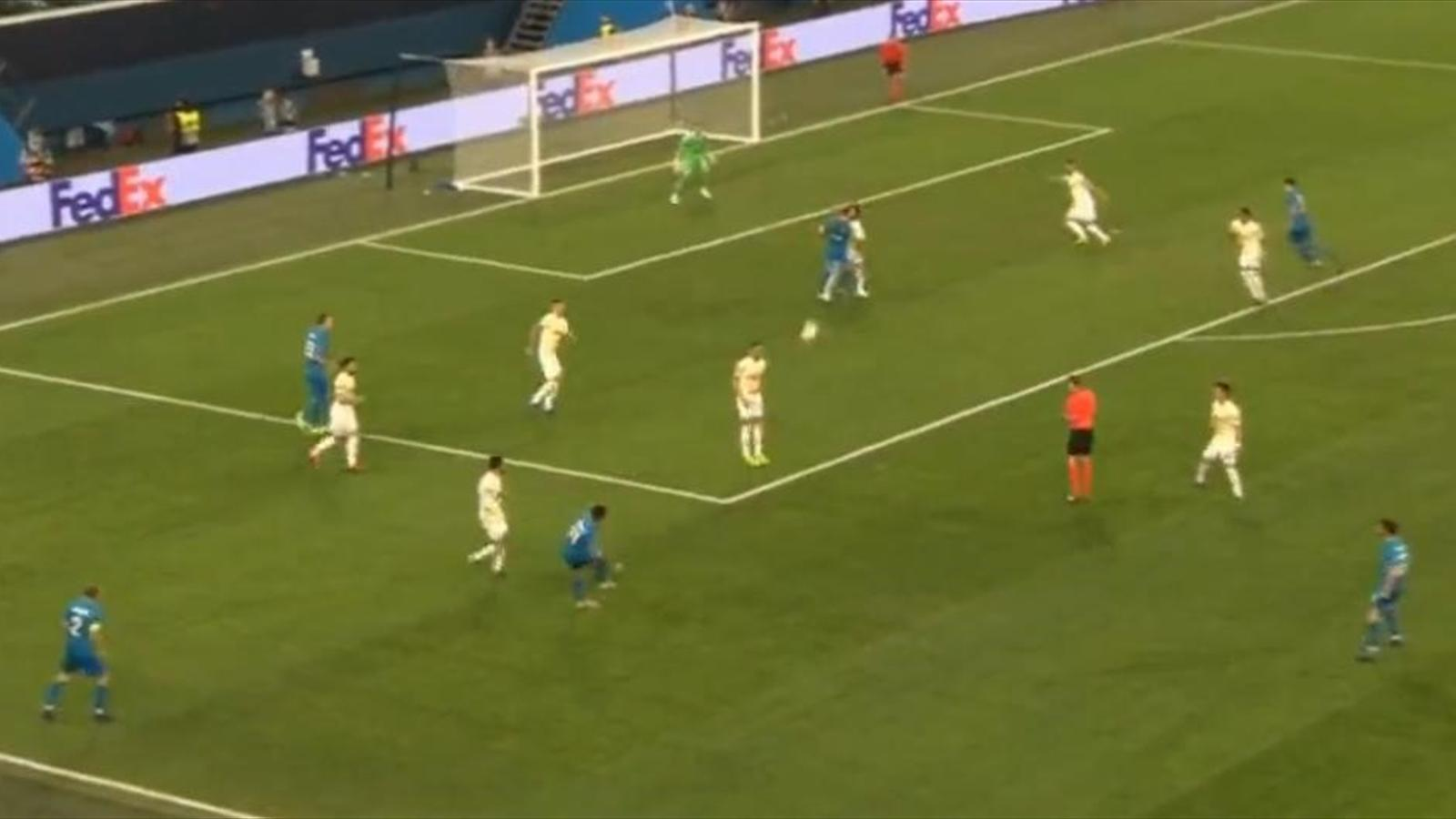 2 гола и ассист Сердара Азмуна, которые вывели «Зенит» в 1/8 Лиги Европы
