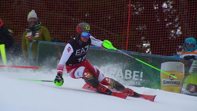 Hirscher grabs silver in rare Combined appearance with superb Slalom run