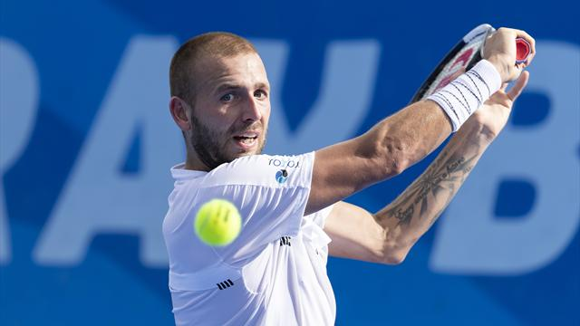 Evans sees off Seppi to reach Delray Beach semis