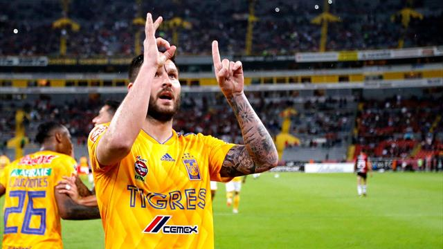 Pendant ce temps, Gignac atteint le cap des 100 buts avec les Tigres