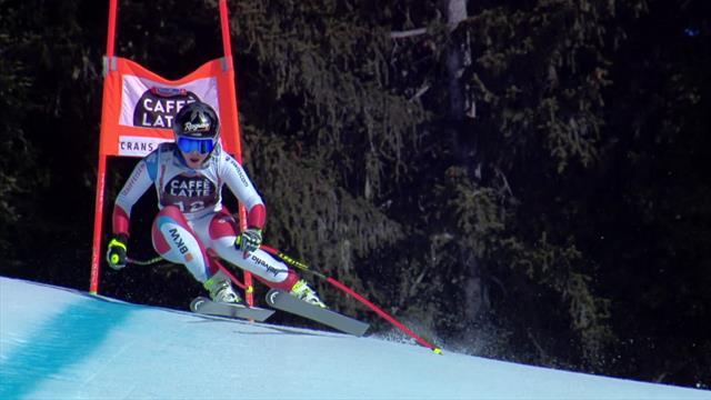 Watch Gut-Behrami's Downhill run in Crans-Montana