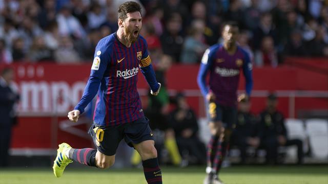 La magnifique reprise de volée de Messi face à Séville