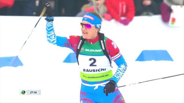 Highlights: Yurlova-Percht clinches 10km pursuit gold