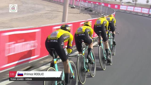 Martin und Team Jumbo - Visma gewinnen Mannschaftszeitfahren