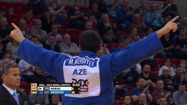Mehdiyev se lleva la medalla de oro en la categoría de menos de 90 kilos; Sherazadishvili eliminado