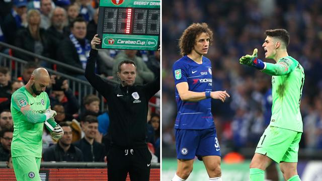 'Kepa is the new Chelsea manager' - Goalkeeper refuses to come off, Sarri loses the plot