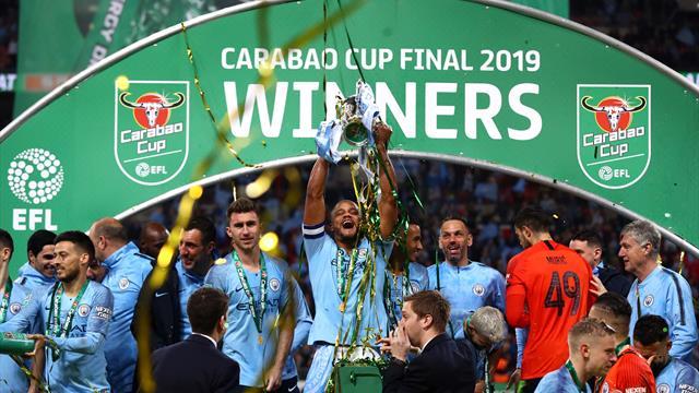 Man City lift cup on penalties after astonishing drama between Kepa and Sarri