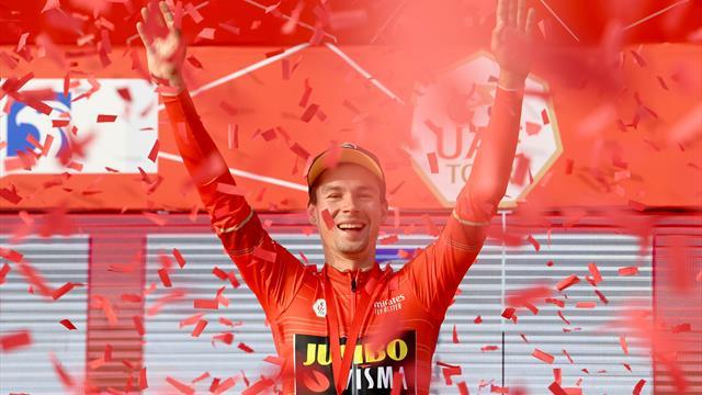 Roglič awarded lead after Jumbo-Visma's time trial win