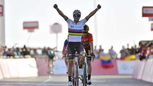 UAE Tour | Valverde wint op uitgekiemde wijze derde etappe