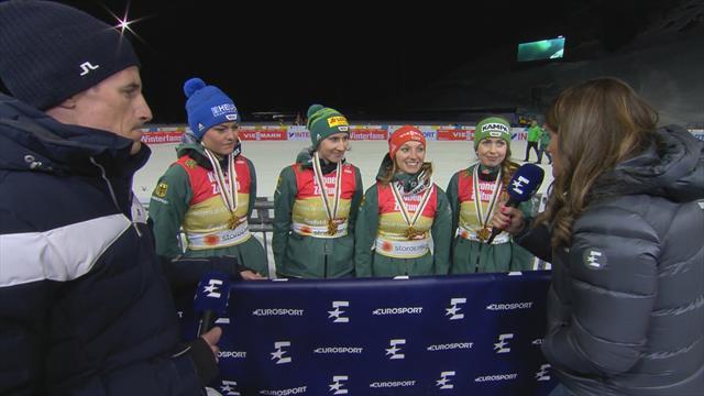 """""""Wahnsinn!"""" Das Gold-Team im Eurosport-Interview"""