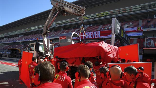 Vettel crashes while Sainz goes fastest in testing
