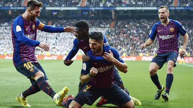 Tonfo Real al Bernabeu! Il Barcellona passa 3-0 con doppietta di Suarez e vola in finale
