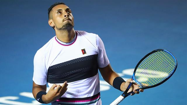 Kyrgios saves three match points to down Nadal in Acapulco