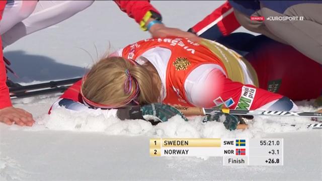 Johaug parkert på oppløpet – svensk gull på stafetten