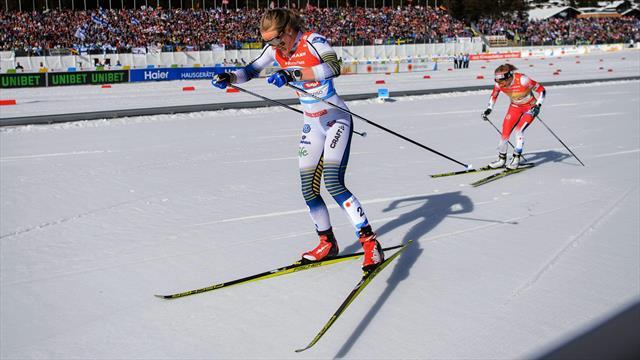 Johaug contra Nilsson: Heißer Fight der Gigantinnen auf der Schlussrunde