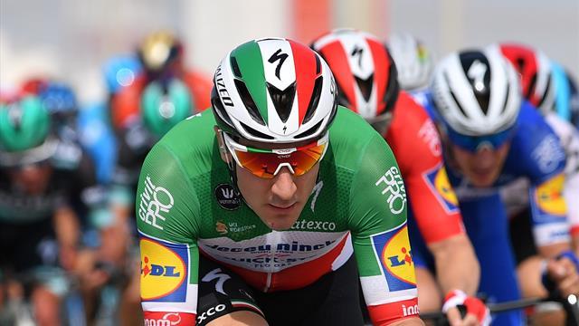 Viviani coiffe Sagan et Gaviria, Yates reste leader