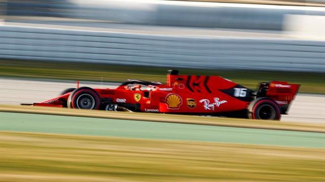 Leclerc asusta con el Ferrari ante el misterio de Mercedes en Montmeló