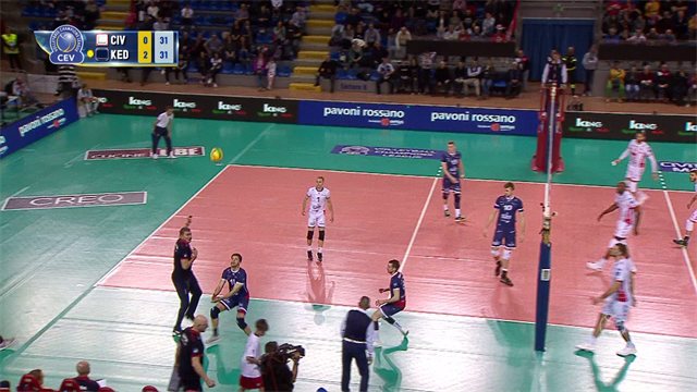 Top 3: Defensive moves from Matchday 6 of men's CEV Champions League
