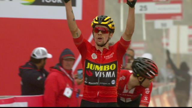 Highlights of Roglic's Stage 6 win in UAE