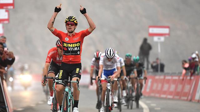 Roglic wins Stage 6 in UAE to secure lead