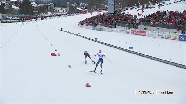 Therese Johaug si impone anche nella 30 km a tecnica libera: terzo oro per lei