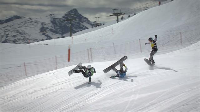 Terrible caída en la prueba de snowboard cross en Baqueira Beret