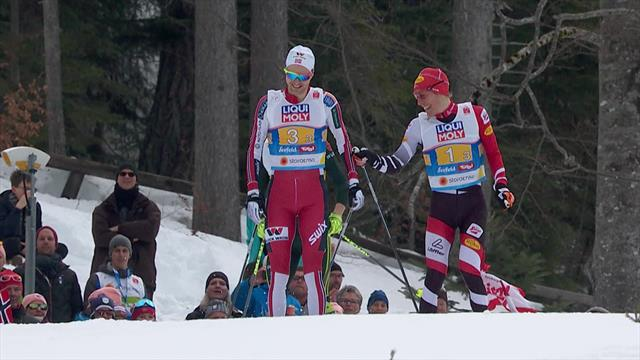 Racers share joke in 4x5km final