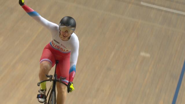 Russian sprinter Daria Shmeleva powers to 500m time trial title
