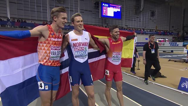 Warholm von vorneweg zum EM-Titel und Hallen-Europarekord über 400 Meter
