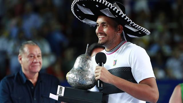 Kyrgios stuns Zverev to win Acapulco title