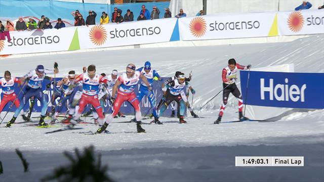 Holund vince la 50 km, Sundby giù dal podio beffato in volata