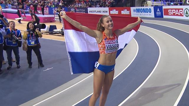 Visser powers to 60m hurdles gold