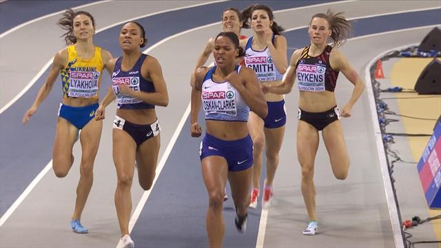 EK Indoor |  Oskan-Clarke snelste in 800 meter finale