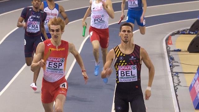 Europeos Glasgow 2019: España cierra su cosecha de medallas con una plata en el 4x400