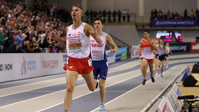 Ingebrigtsen denied double as Lewandowski wins 1500m gold