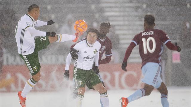 Colorado y Portland juegan el partido más frío de la historia de la MLS